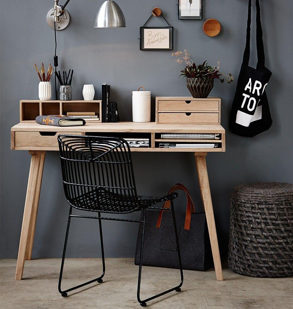 Hübsch Möbel hübsch interior möbel schreibtisch aus holz living