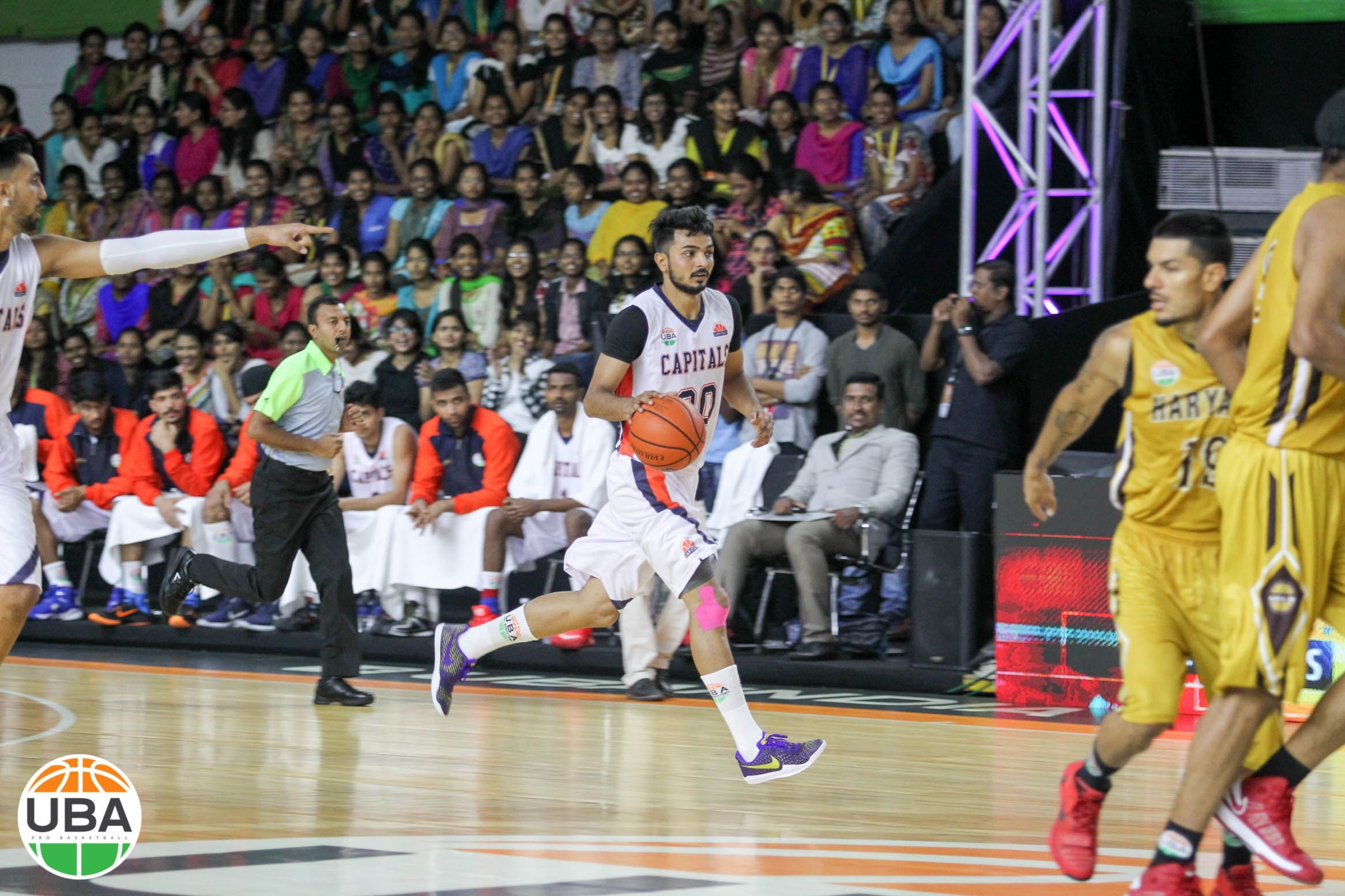 Before The Defense Has A Chance To Settle Vinay Kaushik Looks To Create An Opening Ubaindia Ubaseason4 With Images Basketball Teams Basketball Court Season 4