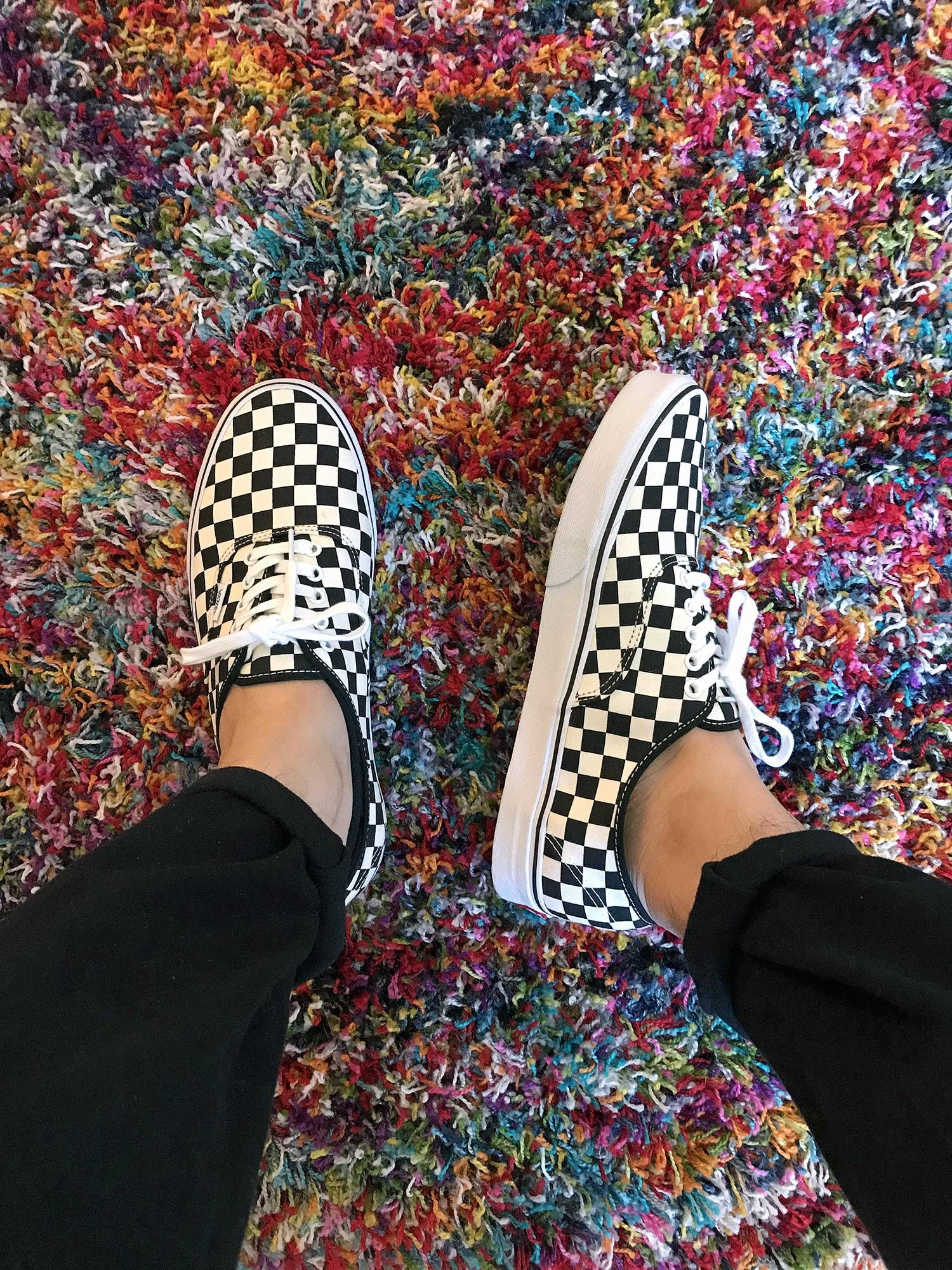 56b30fb319e Hot Weather Checkers - Vans Golden Coast Authentics