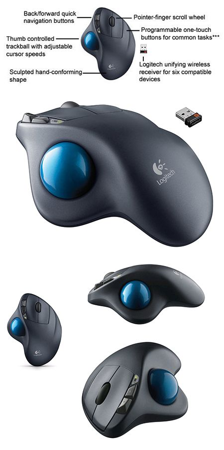 ed96d96a612 Logitech M570 Wireless Trackball Mouse Gets 54% Reduction to $27.50, Today  Only