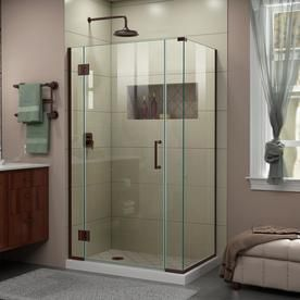 Dreamline Dreamline Unidoor X 40 1 2 In W X 30 3 8 In D X 72 In H Frameless Hinged Shower Enclosure In Oil Rubbed Bronze Shower Doors Frameless Shower Doors Frameless Shower Enclosures