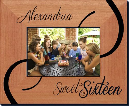 Sweet Sixteen Picture Frame - Always FREE laser engraving. Create ...