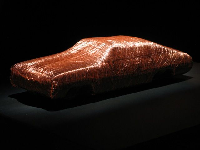 Alice Anderson - Car (Mummified Object), 2013