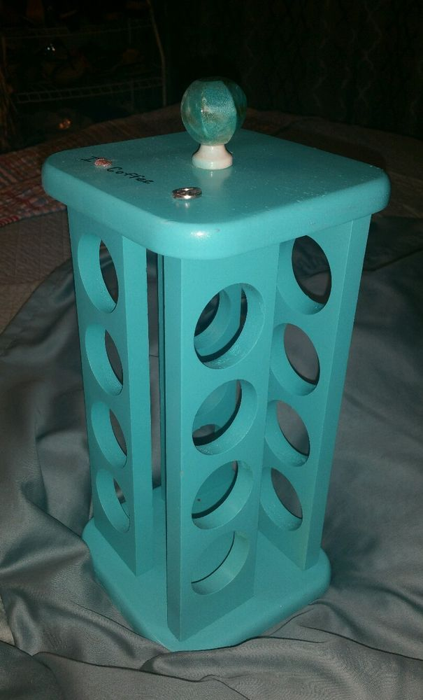 K Cup Single Coffee Pod Holder Tower Holds Keurig K Cup Turquoise Blue Keurig Coffee Pod