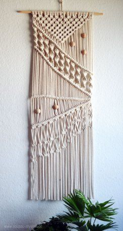 Diy Boho Style Ein Selbstgemachtes Makramee Wandbehänge Déco