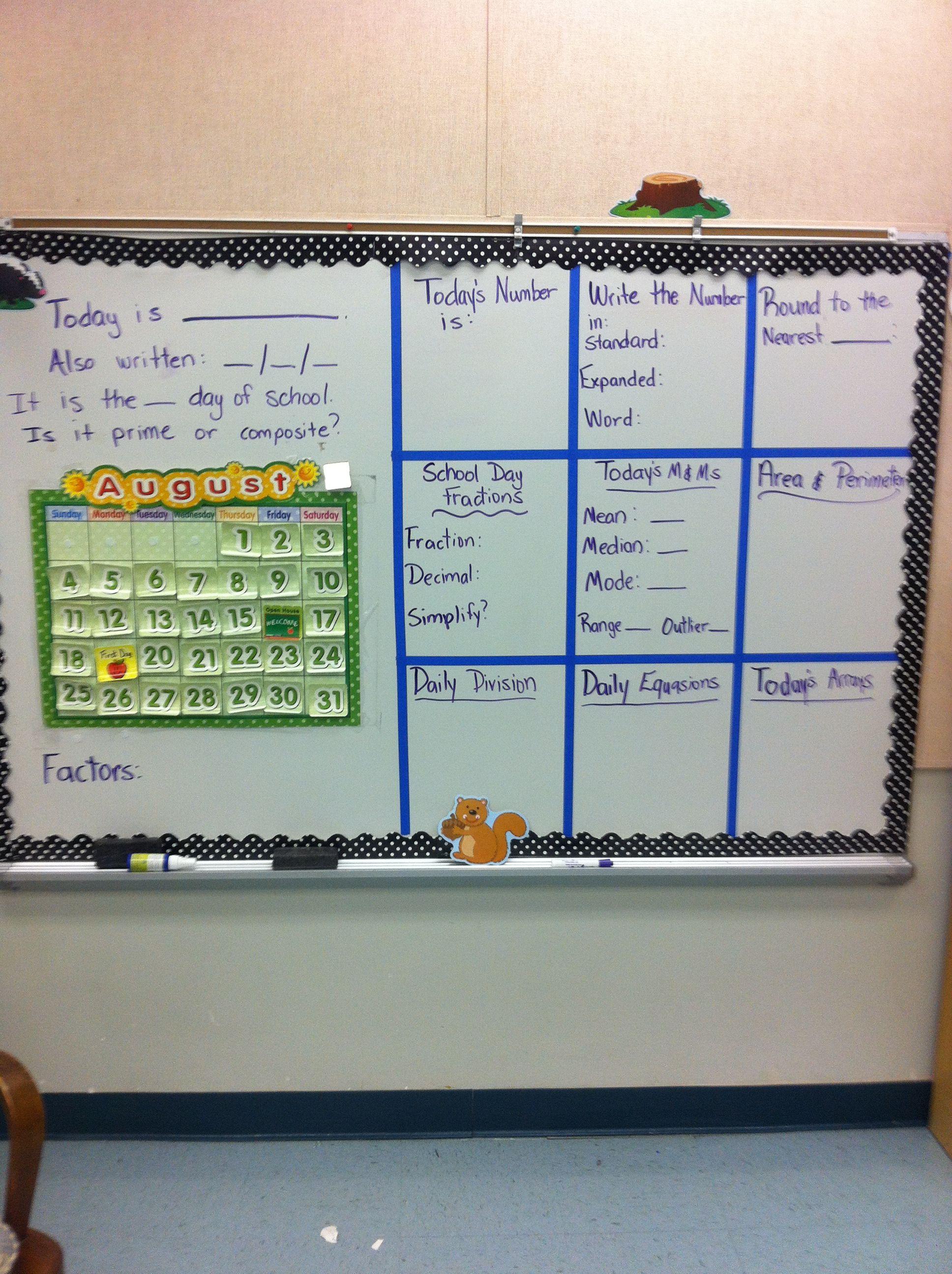 4th Grade Calendar Math