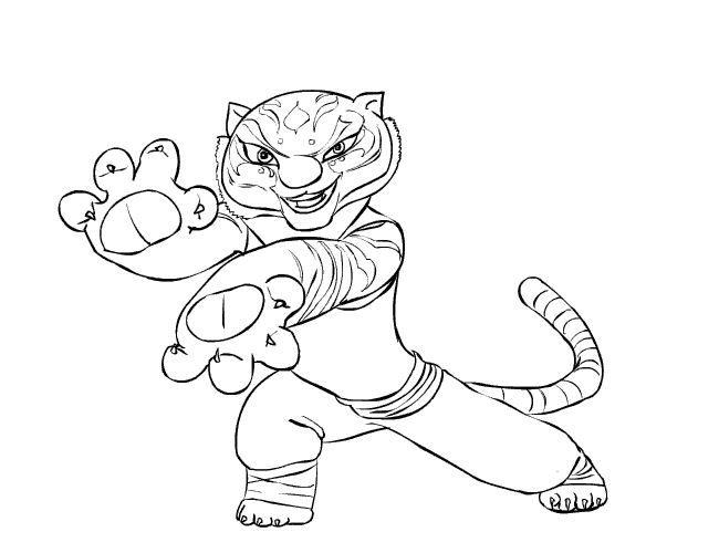 Kung Panda Tigress Coloring Pages