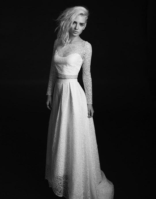 Robe de mariee moderne avec bustier