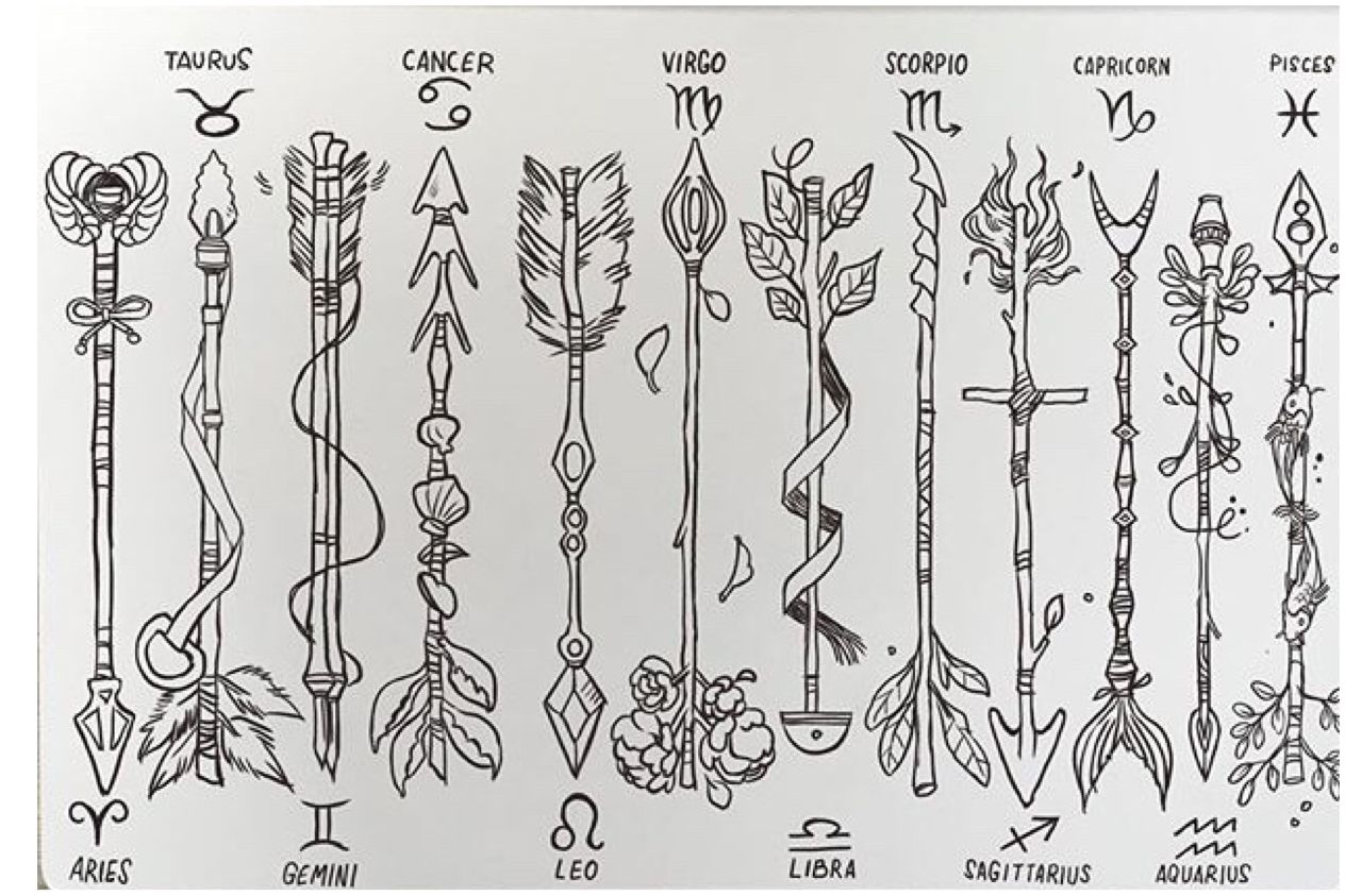 Zodiac arrows Tattoos, Arrow tattoos, Zodiac tattoos