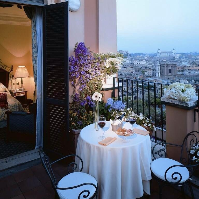 Pin by Maria Oheida on BALCONIES Rome, Rooftop garden