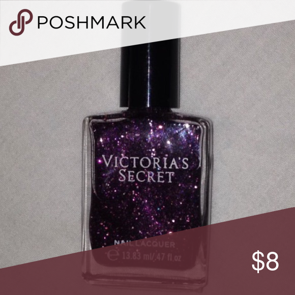 Victoria\'s Secret nail polish Victoria\'s Secret purple glitter nail ...