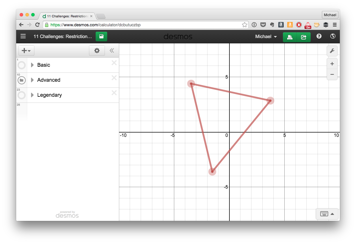 11 Desmos Challenges Restrictions 7 Relatable Challenges Graphing