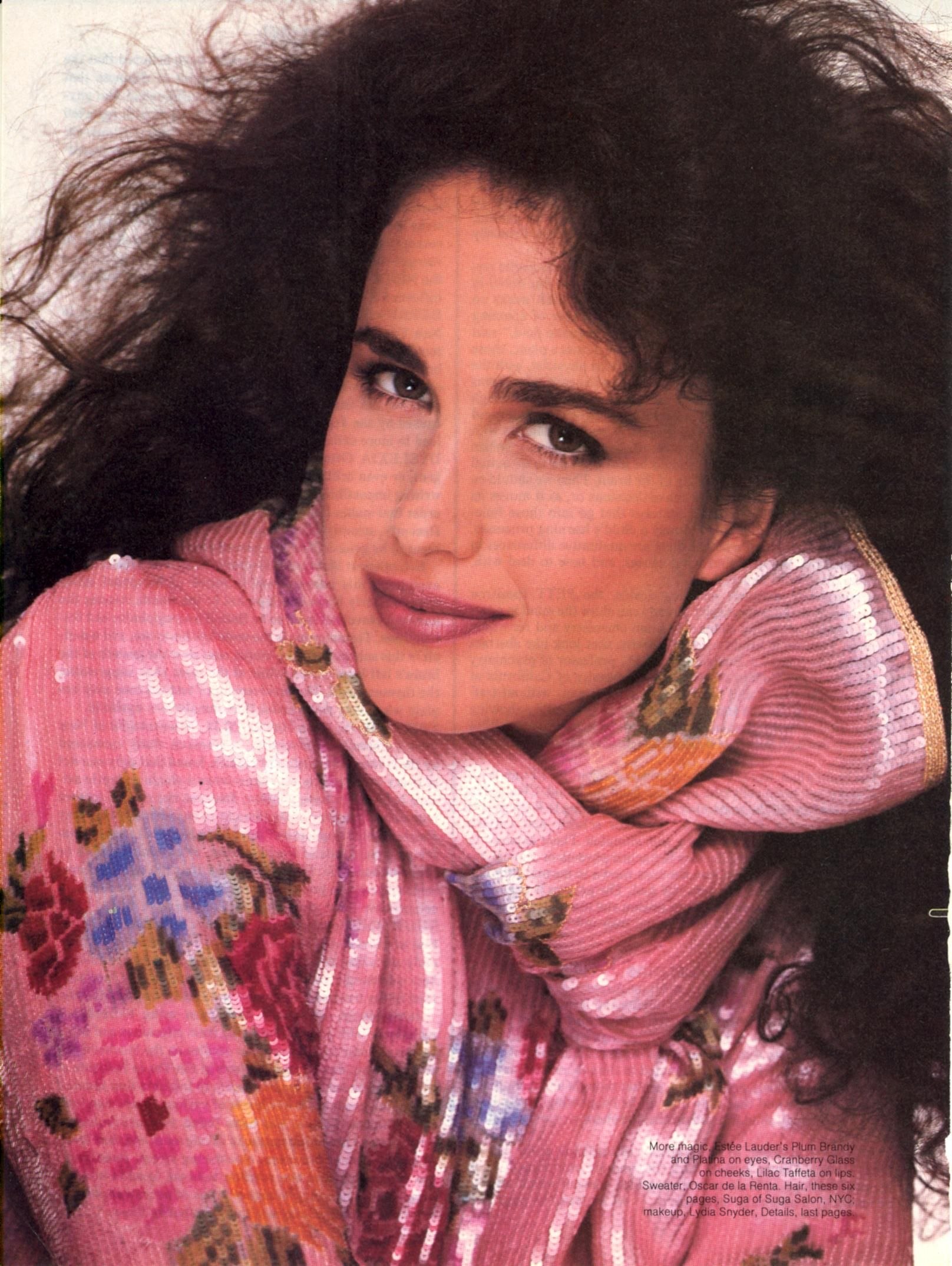Andie Macdowell Bra Size splashdance '83 photo richard avedon model andie macdowell