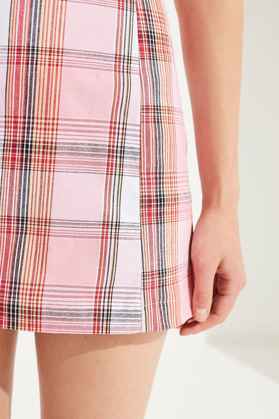 6ddacfd989 Urban Outfitters Renewal Remnants Pastel Plaid Skirt - Pink Xs ...