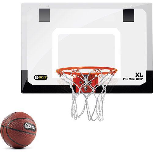 SKLZ Pro Mini Hoop XL, Door Mount Basketball Hoop, Indoor