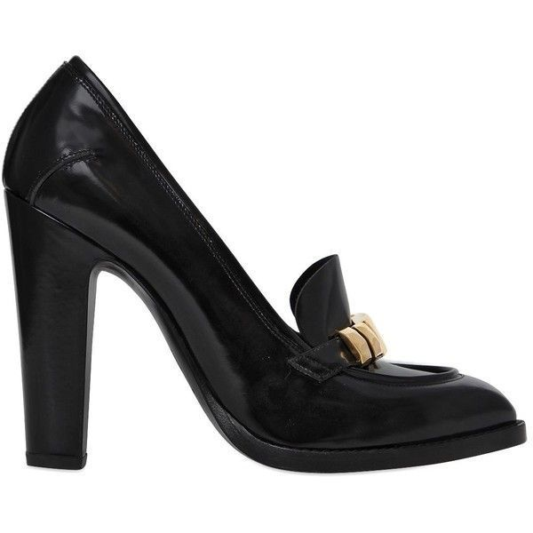 Alexander McQueen 110MM BRUSHED LEATHER PUMPS VfWeZaU8