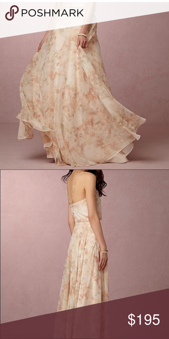 Anthropologie BHLDN Inesse Floral Gown | Dress alterations, Dry ...