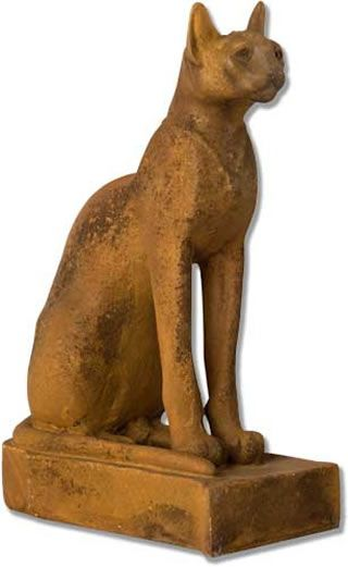 Egyptian Cat Outdoor Garden Statue Sculpture Statuary Available At  AllSculptures.com