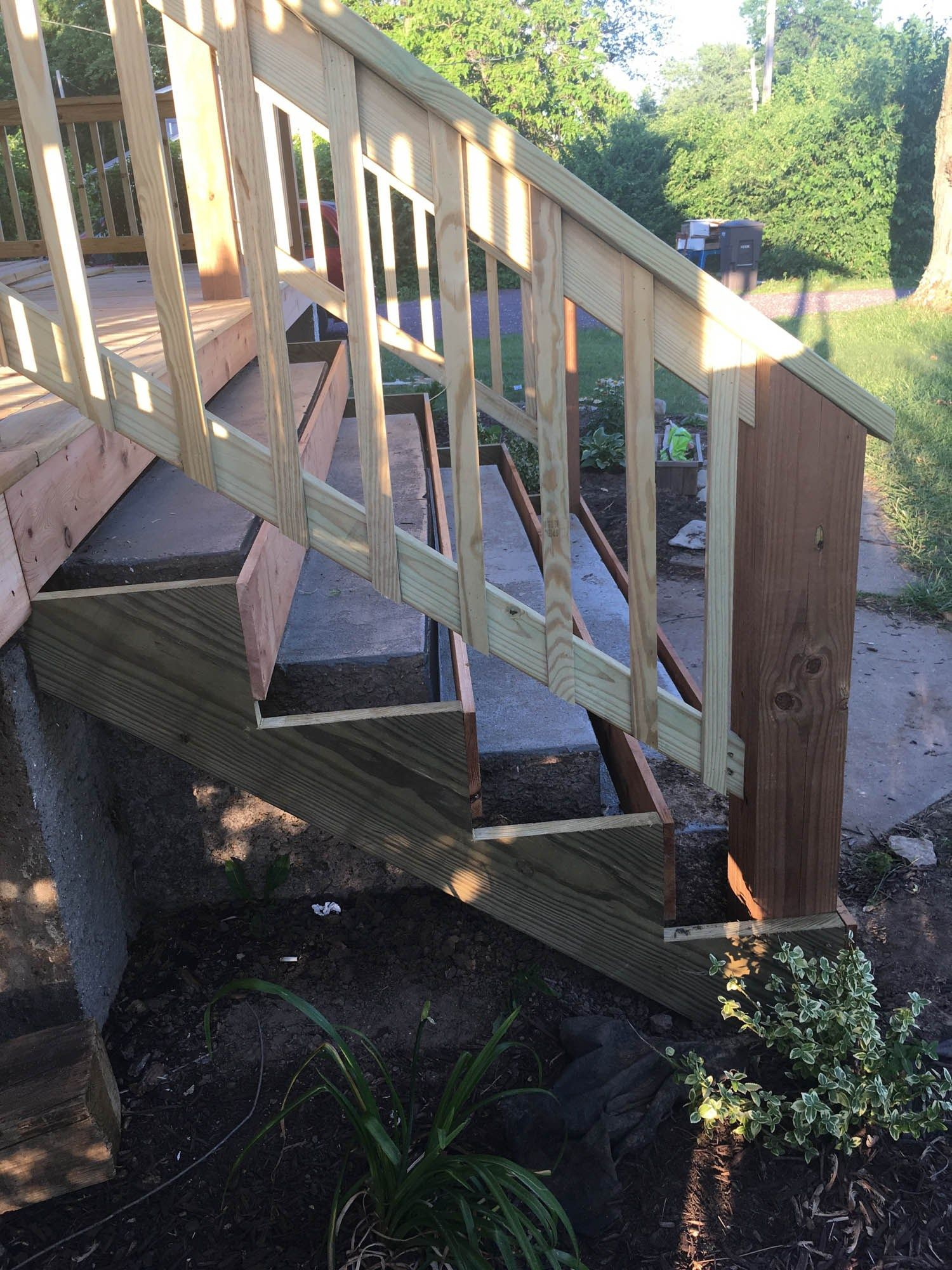 Best How To Cover Concrete Steps With Wood Front Porch 400 x 300