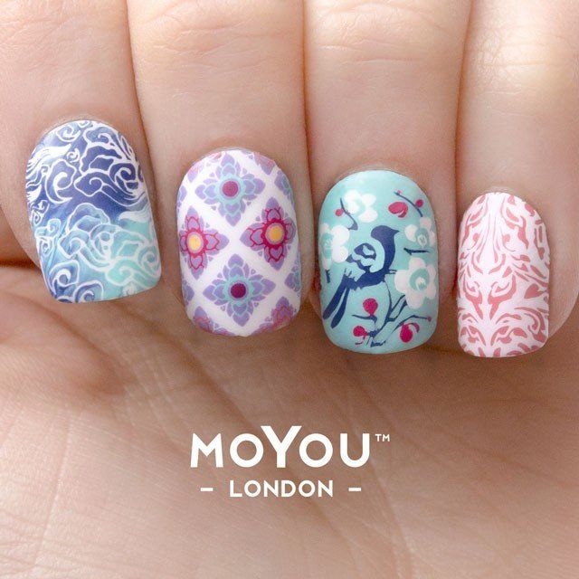 Asia 02 oriental motifs palettes small nail art images london art images prinsesfo Images