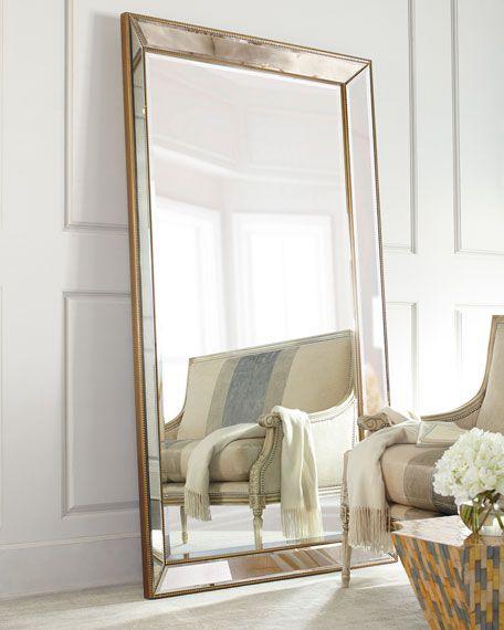 Aldina Golden Beaded Floor Mirror In 2019 Floor Mirror