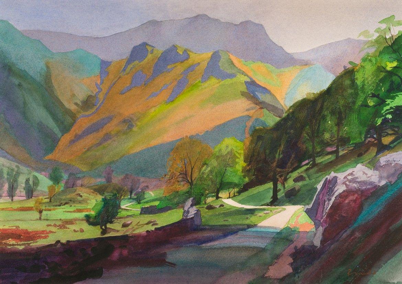 Dovedale Lake District Art Lake District Lake Painting
