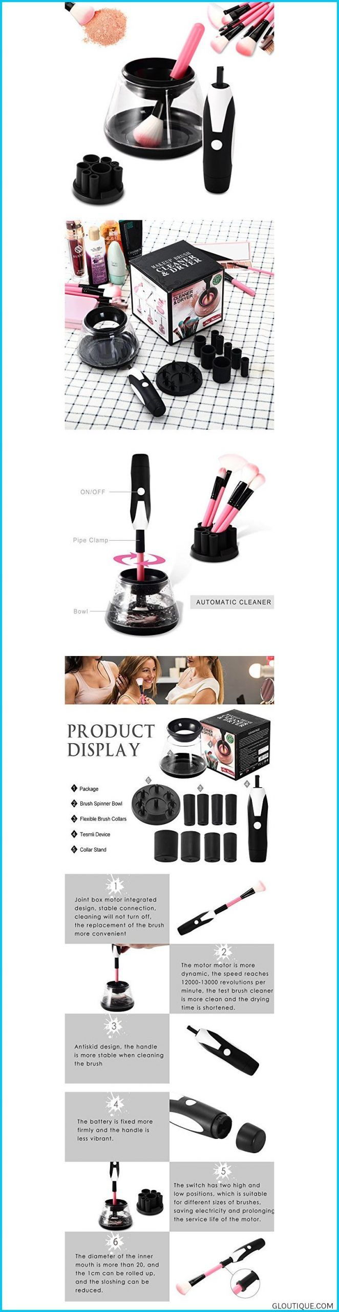 Makeup Brush Cleaner and Dryer Machine Upgraded Design