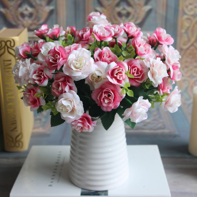 15 Heads Fake Silk Flowers Bouquet Artificial Rose Wedding Party Plant