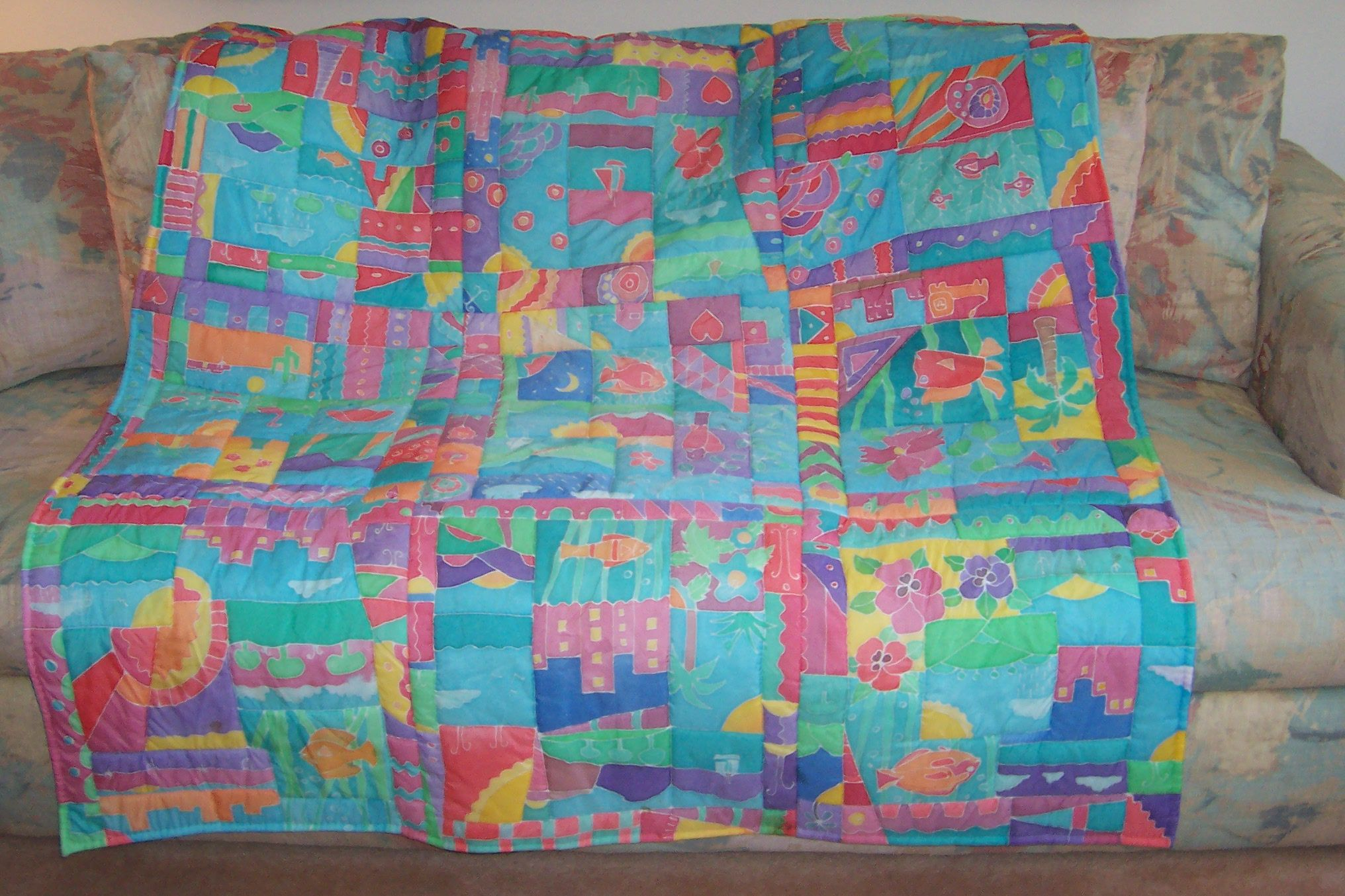 This is the same quilt only a different view.