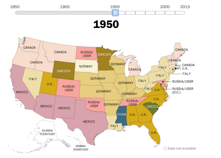 160 years of US immigration, mapped | Map, Ap human ...