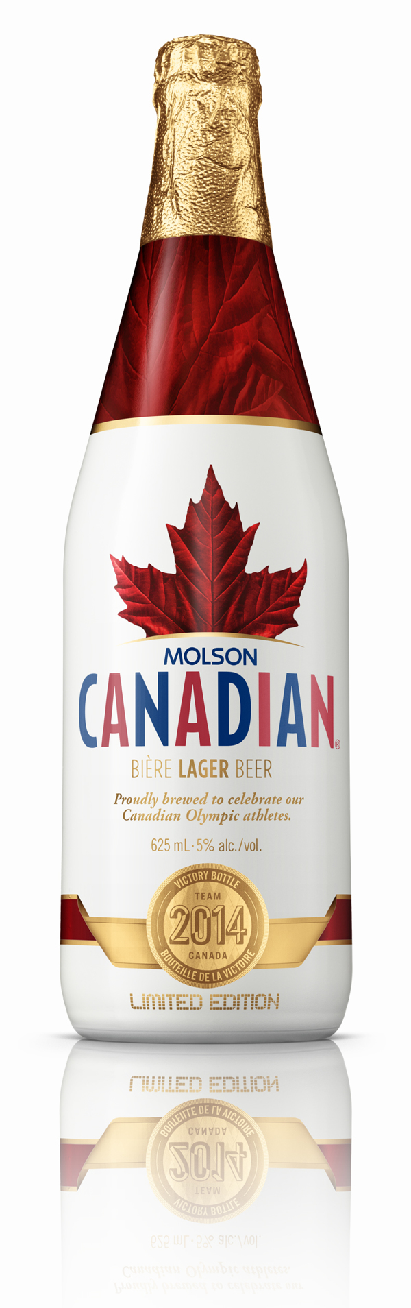 Molson Canadian Victory Bottle By The 3d Image Studio Via Behance Canadian Beer Wine And Spirits Bottle