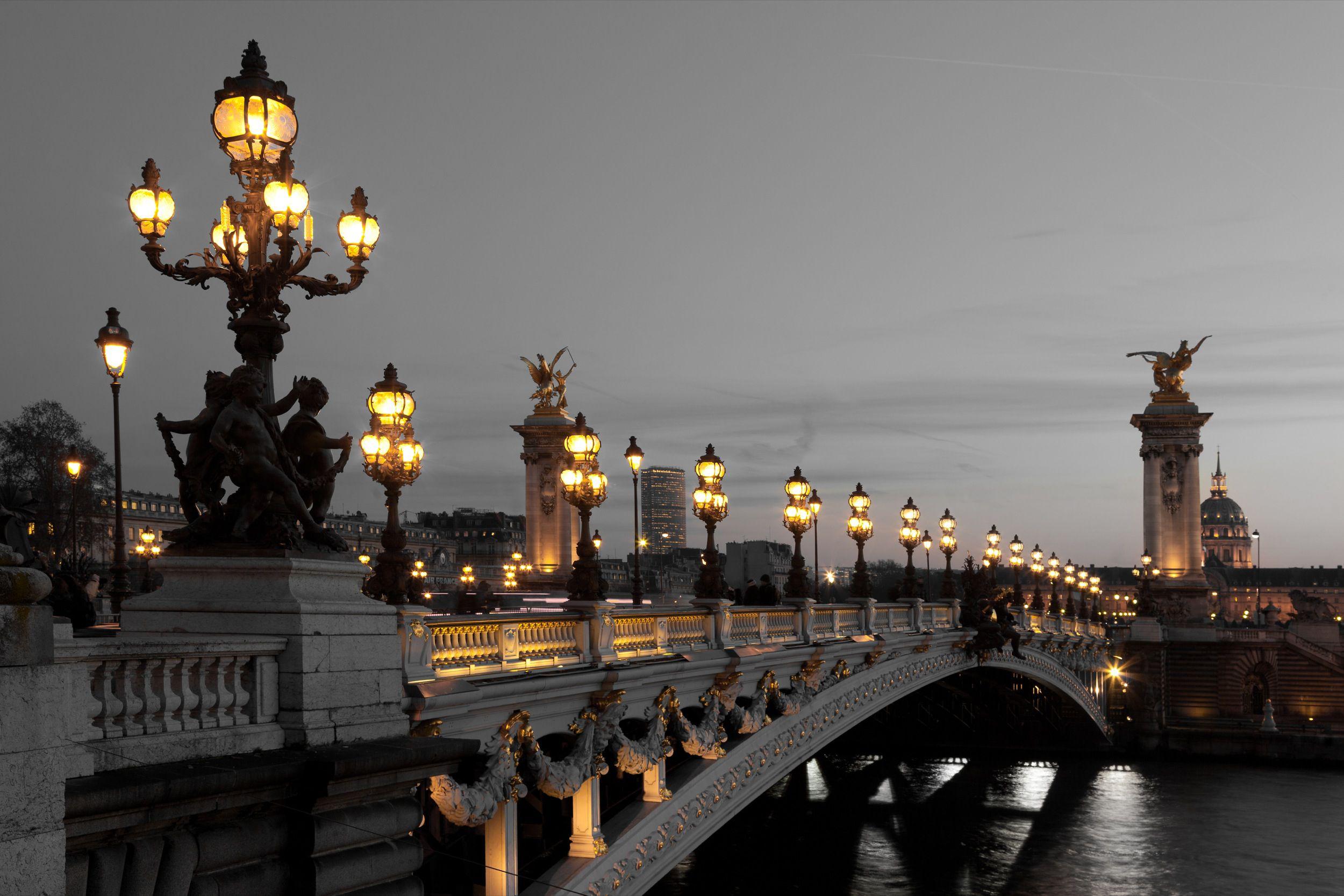 Обои pont alexandre iii, мост александра iii, paris, france. Города foto 15