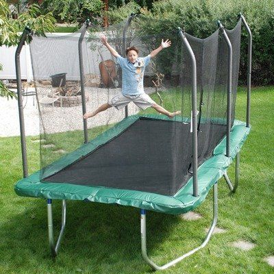 Summit 8 X 14 Rectangle Trampoline With Safety Enclosure By