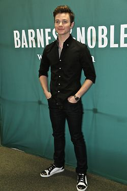 Chris Colfer at The Land of Stories: A Grimm Warning book signing at Barnes  Noble in Union Square in NYC on July 8, 2014