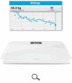Withings' Wireless Scale offers a new way to accurately monitor your weight. This Wi-Fi and Bluetooth-enabled scale wirelessly syncs your measurements and allows you to visualize your weight trends on your iPhone, iPad, or iPod touch using the free Withings Health Companion app. Set goals, monitor your progress, and motivate yourself to maintain a healthy weight.