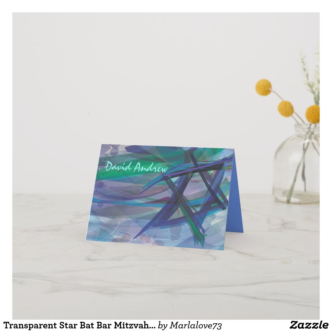 Transpa Star Bat Bar Mitzvah Thank You Card Invitations Ideas Themes For S Parties Modern Unique Creative Pink Glitter
