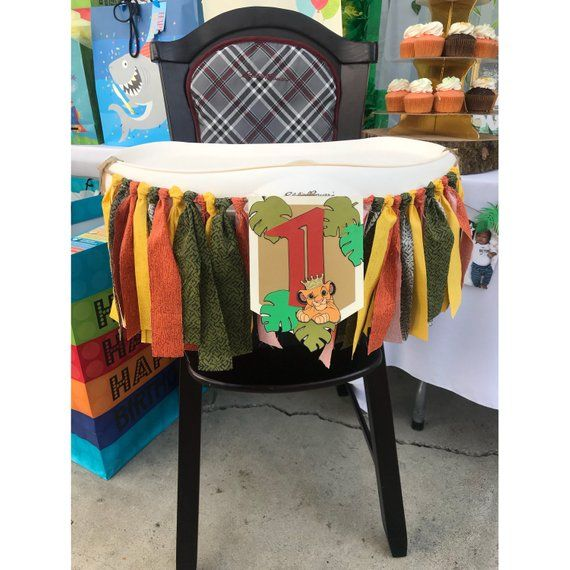 b6b45af34 Lion King High Chair Banner | Lion King Birthday | Lion King Birthday  Invitation | Safari High Chair