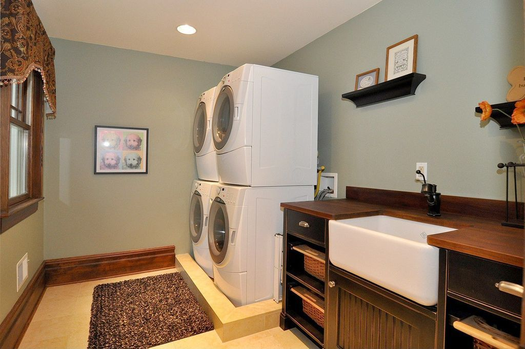 Country Laundry Room With High Ceiling American Cherry Butcher Block Countertop Customize Order Online Carpet Country Laundry Rooms Home Butcher Block Countertops