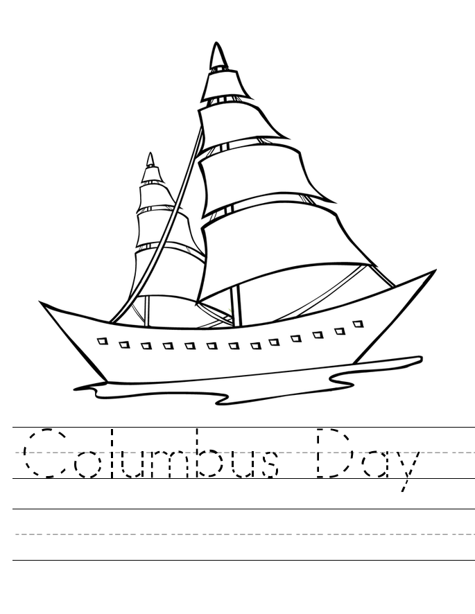 printable worksheets of columbus day free for kids | Christopher ...