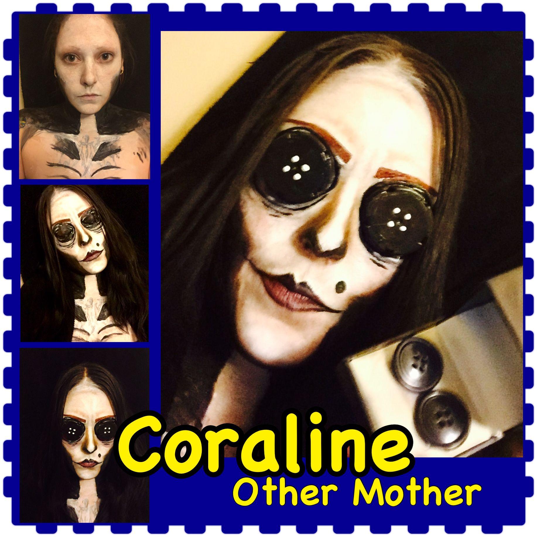 Coraline Evil Other Mother Makeup Halloween Cosplay Halloween Makeup Halloween Other Mothers