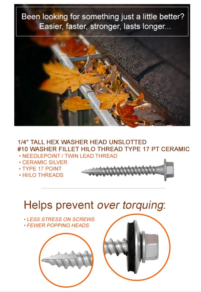 Pin By All Points Fasteners On Today S Featured Fasteners How To Install Gutters Thread Types Screws