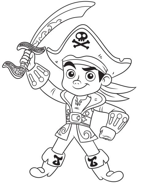 Dibujos para colorear de Capitán Jake Pirata - Imagenes de Capitán ...