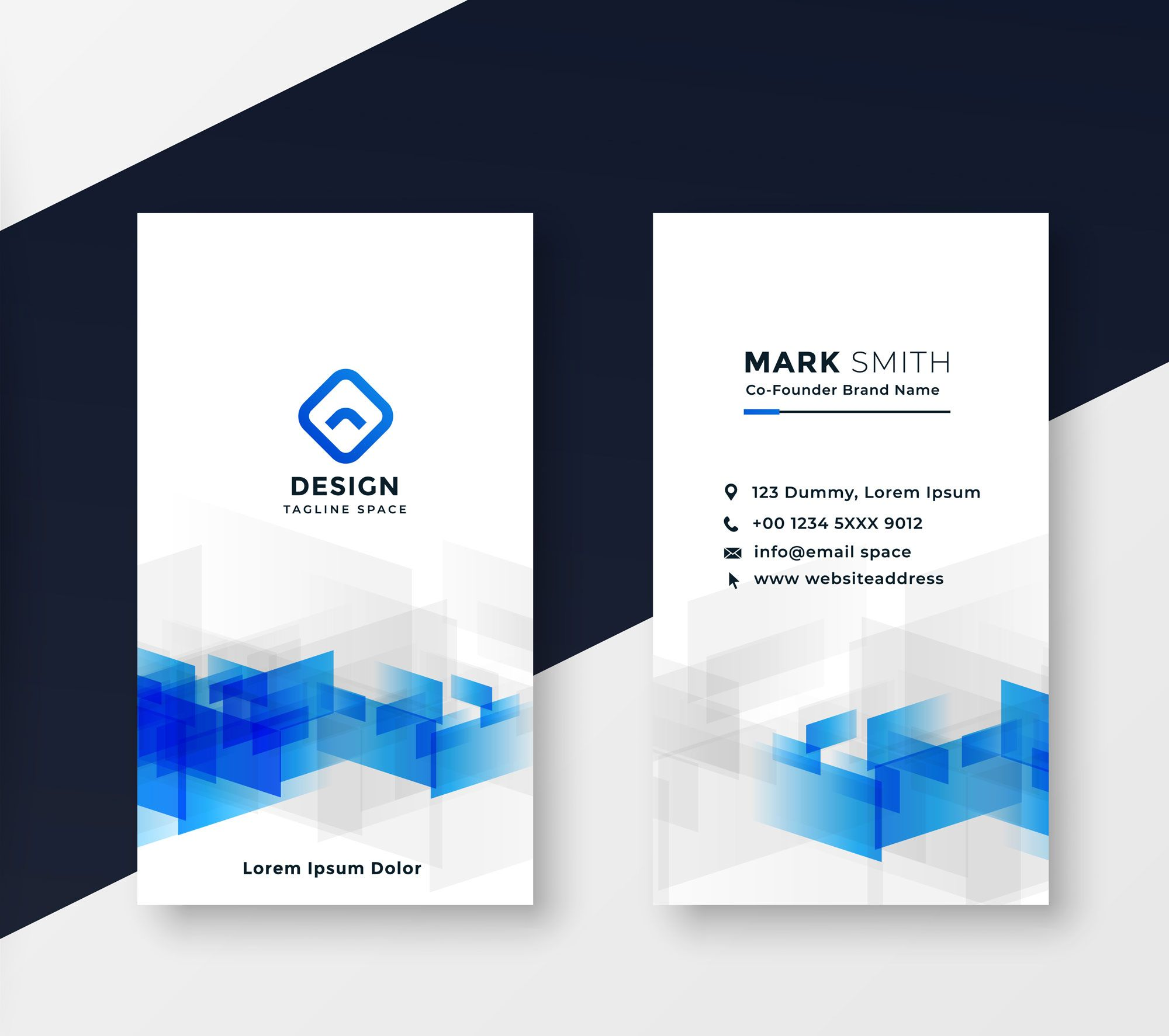 Vertical Company Business Card Design Bc003 Business Card Design Company Business Cards Free Business Card Design
