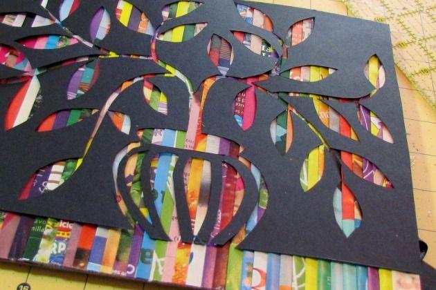 Quadro Feito Com Revistas Recicladas Revista Artesanato