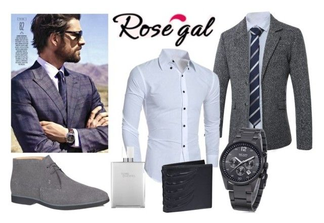 """""""Grey and white"""" by mercija ❤ liked on Polyvore featuring Tod's, Hermès, Alexander McQueen, men's fashion and menswear"""