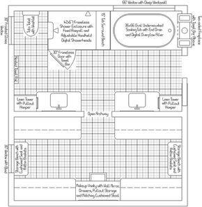 13 X 7 master bath plans | Master Bath/Closet Layout ...