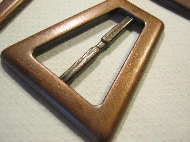 schön billig mehrere farben billig werden 9 Stück gürtelschnallen ohne Dorn,Kupferfarben,Kegelstumpf ...