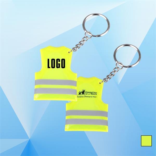 Reflective Vest Shaped Safety Key Chain Reflective vest