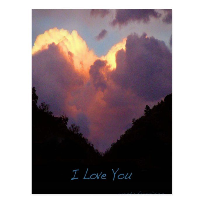 A heart-shaped cloud is a beautiful way to say I love you... By artist/photographer, Wendy Francisco