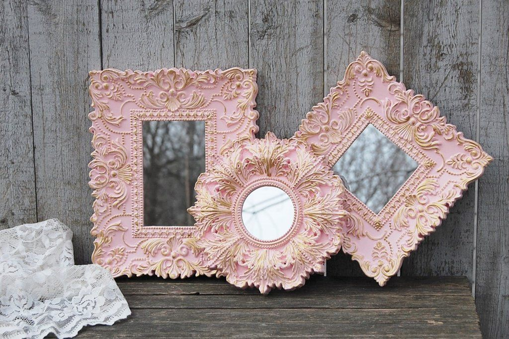Photo of Pink & gold mirrors